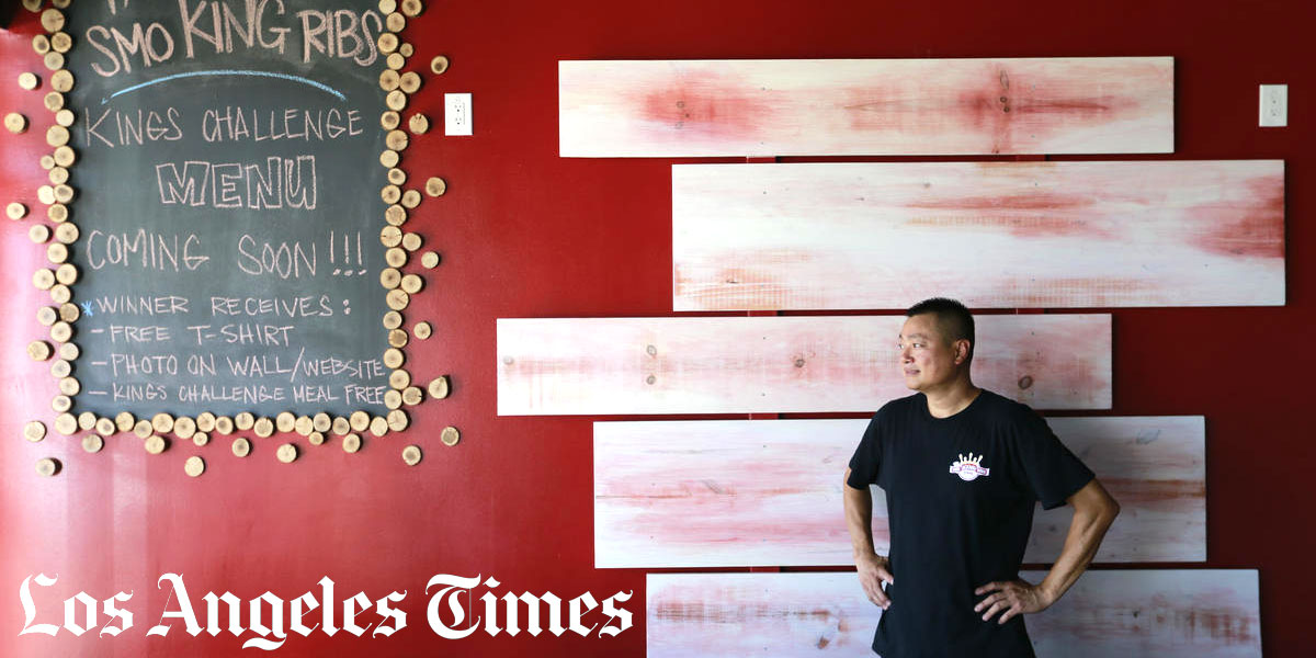 Los Angeles Times visit The Smoking Ribs by Anh Do